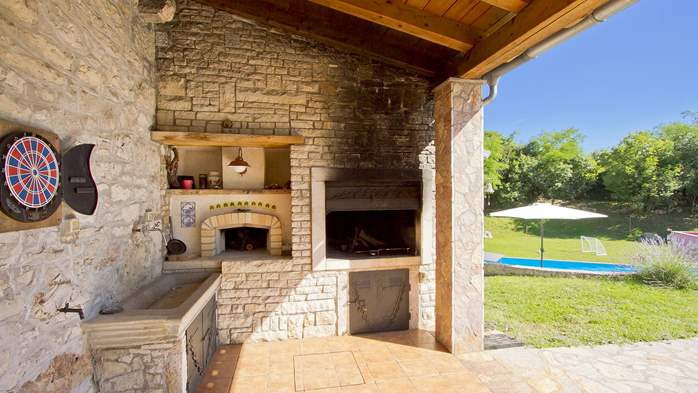 Villa with pool, terrace and playground for kids, close to Labin, 41