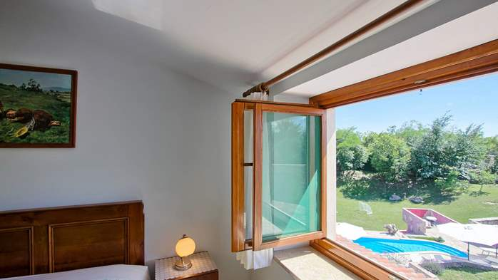 Villa with pool, terrace and playground for kids, close to Labin, 26