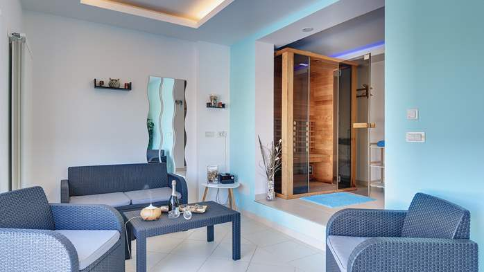 Luxury villa with pool with whirlpool, sauna, jacuzzi and gym, 40