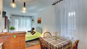 Studio apartment for two in Pomer, parking, barbecue, terrace, 4
