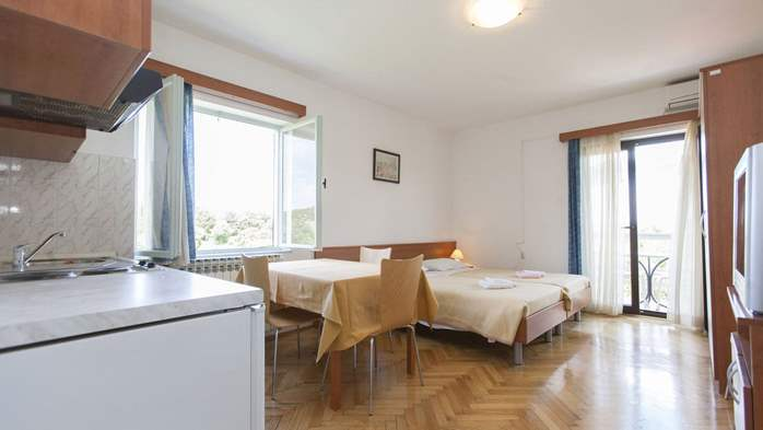 Apartment with single room and balcony for 3 persons, 3