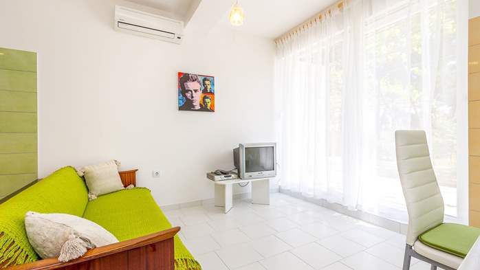 Nice apartment with delightful colors for 3 persons with sea view, 6