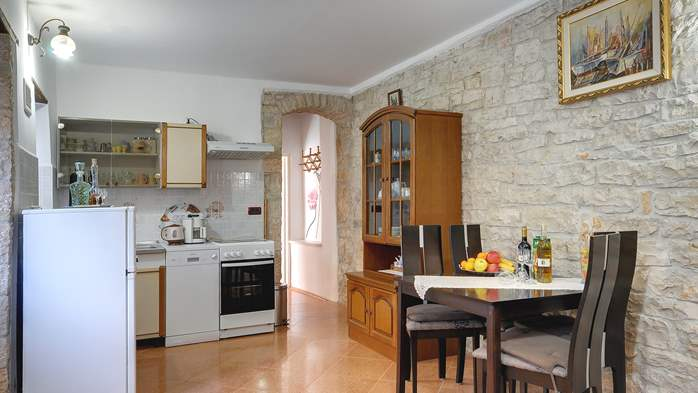 Apartment for 4 persons with stone details, pool, playground, 3