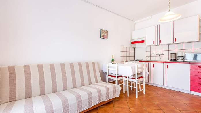 Bright apartment on the ground floor with private terrace, WiFi, 1