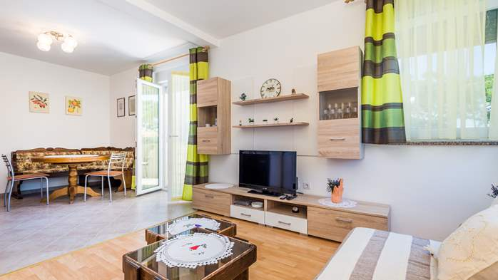 Nicely decorated apartment in Valbandon can host up to 5 persons, 1