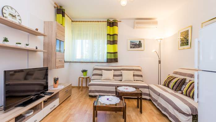 Nicely decorated apartment in Valbandon can host up to 5 persons, 2