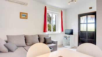 Air-conditioned apartment with private terrace, playground, WiFi, 4