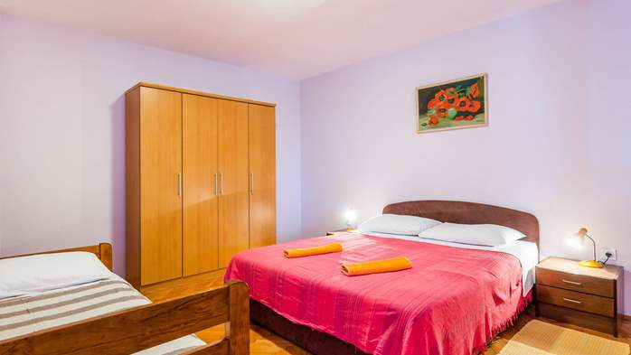 Air-conditioned apartment with private terrace, playground, WiFi, 1