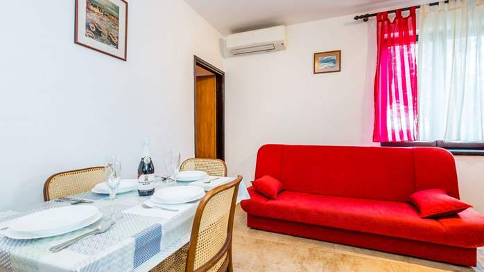 Air-conditioned apartment with private terrace, playground, WiFi, 7