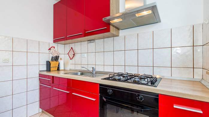 Apartment for 3 persons in Valbandon, free WiFi, SAT-TV, barbecue, 3