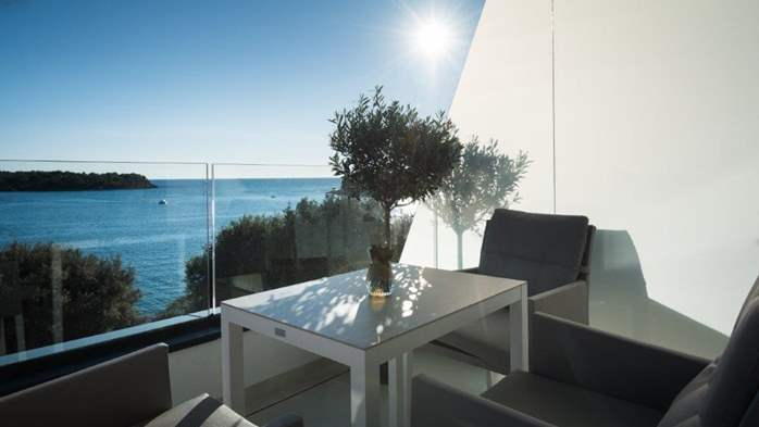 Luxury villa only 30 m from the sea, private pool, BBQ, 19