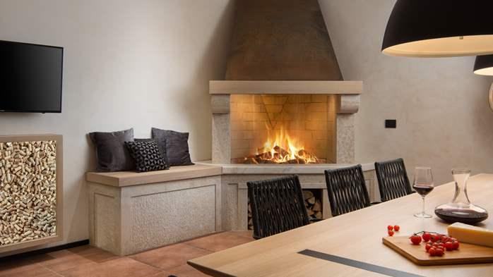 Stylish villa with heated pool near Pula, with wine cellar, 52