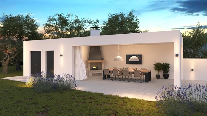 Stylish villa with heated pool near Pula, with wine cellar, 57