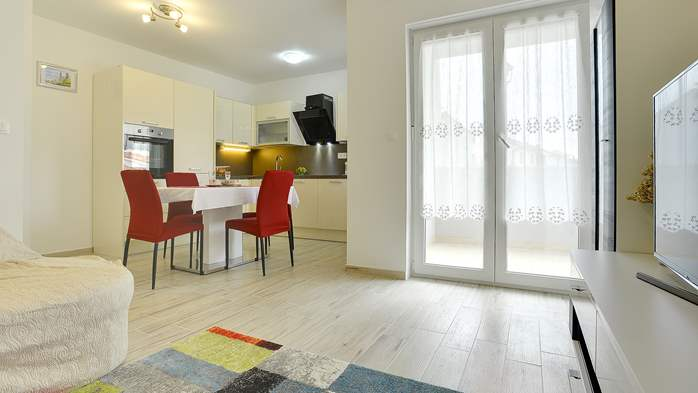 Nice air-conditioned apartment for 4 people, with private terrace, 4