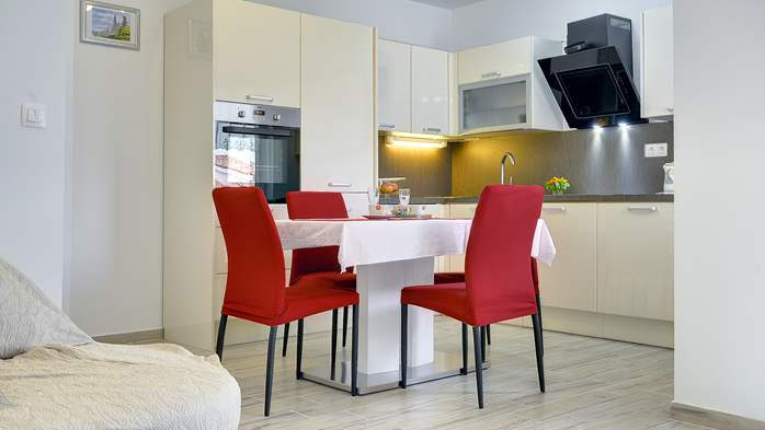 Nice air-conditioned apartment for 4 people, with private terrace, 9