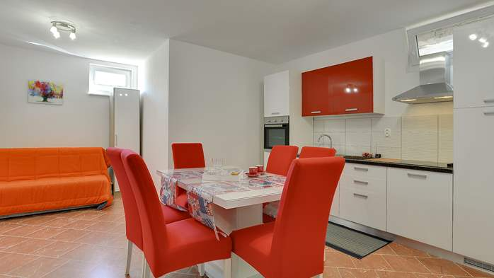 Nicely decorated studio apartment in Pula for 2 persons, 4