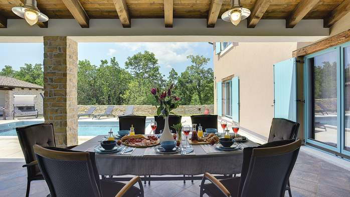 Outstanding villa  with private pool, spacious garden and BBQ, 31