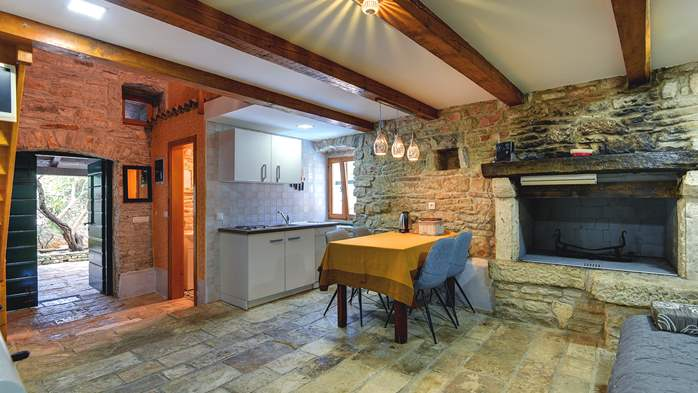 Beautiful stone house with swimming pool and terrace for 3 pax, 12