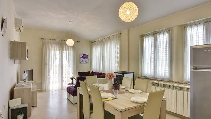 Air conditioned apartment for 4 people, wifi, 4