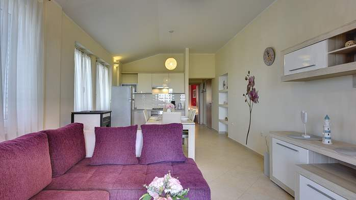 Air conditioned apartment for 4 people, wifi, 3