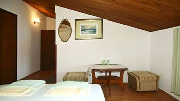 Arranged room with a bathroom in the attic with a sea view, 3