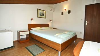 Arranged room with a bathroom in the attic with a sea view, 5
