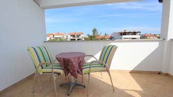 Room with bathroom in the attic for two persons, SAT-TV, balcony, 5