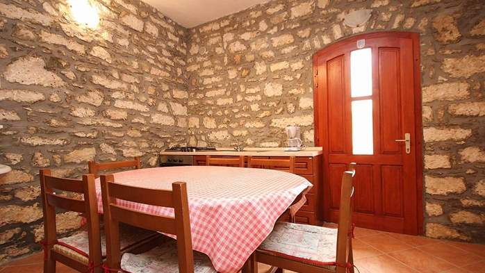 Stone house in Premantura with fenced courtyard with barbecue, 19