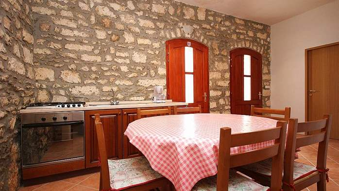 Stone house in Premantura with fenced courtyard with barbecue, 20