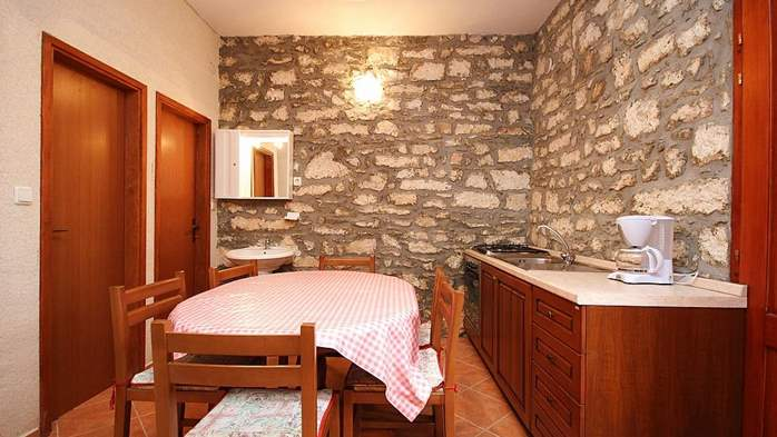 Stone house in Premantura with fenced courtyard with barbecue, 21