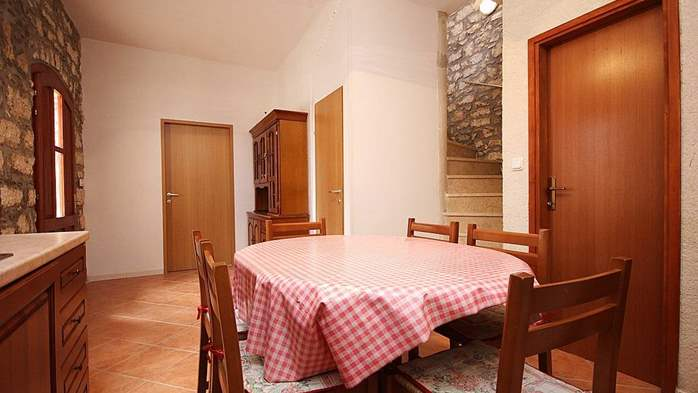 Stone house in Premantura with fenced courtyard with barbecue, 26