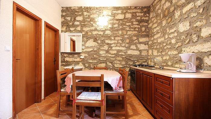 Stone house in Premantura with fenced courtyard with barbecue, 33