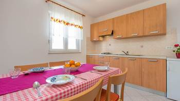 Apartment with one bedroom for 4 persons, WiFi, air conditioning, 1