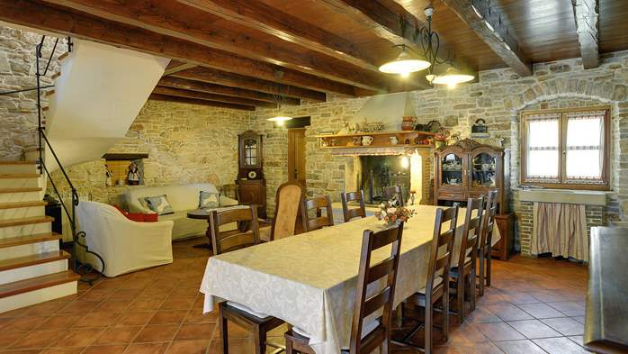 Traditional istrian stone villa with private pool and terrace, 18