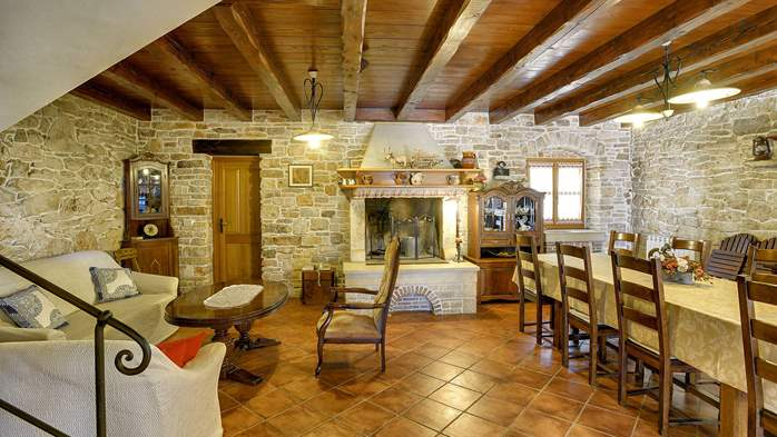 Traditional istrian stone villa with private pool and terrace, 19