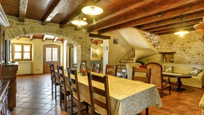 Traditional istrian stone villa with private pool and terrace, 20