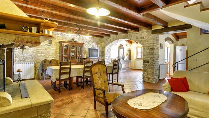 Traditional istrian stone villa with private pool and terrace, 21
