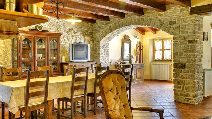 Traditional istrian stone villa with private pool and terrace, 22