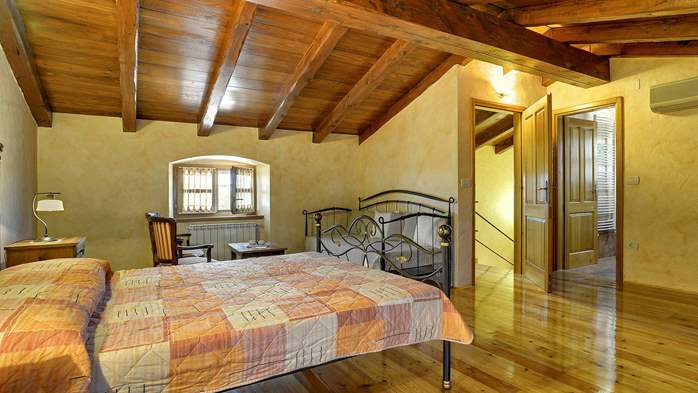 Traditional istrian stone villa with private pool and terrace, 29