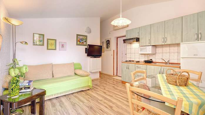 Comfortable apartment for 4 people in Pula,free WiFi, shared pool, 1