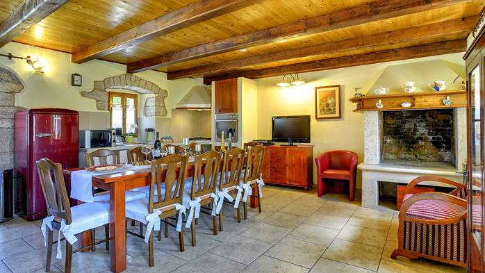 Istrian villa with private pool, playground for kids and barbecue, 16