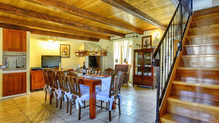 Istrian villa with private pool, playground for kids and barbecue, 13