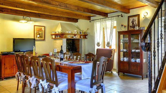 Istrian villa with private pool, playground for kids and barbecue, 15