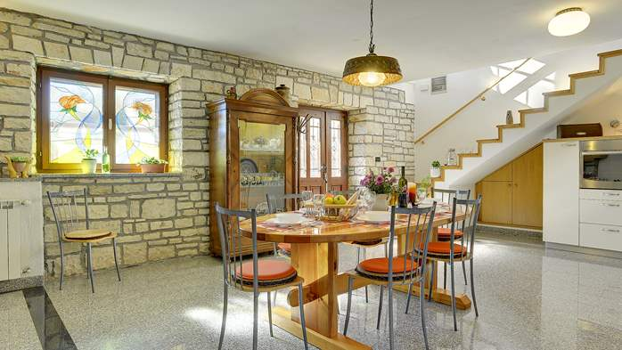 Stone villa with swimming pool, 3 bedrooms, children's playground, 19